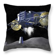 Artists Rendering Of Future Space Throw Pillow