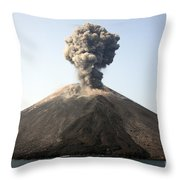 Ash Cloud From Vulcanian Eruption Throw Pillow