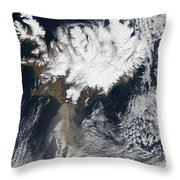 Ash Plume From Eyjafjallajokull Throw Pillow