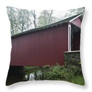 Ashland Covered Bridge Throw Pillow