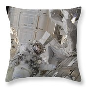Astronaut Participates In A Session Throw Pillow