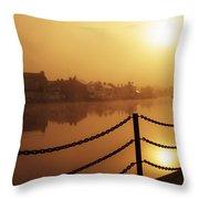 Athlone, County Westmeath, Ireland Dock Throw Pillow