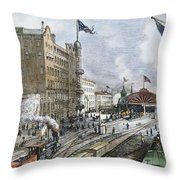 Atlanta, Georgia, 1887 Throw Pillow