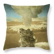 Atomic Bombing Of Nagasaki Throw Pillow by Omikron