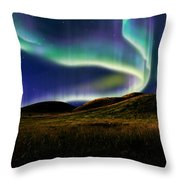 Aurora On Field Throw Pillow