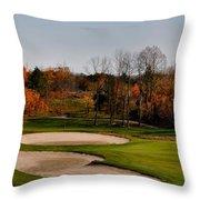 Autumn Golfing  Throw Pillow