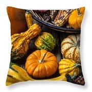 Autumn Still Life Throw Pillow by Garry Gay