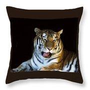 Awaking Tiger Throw Pillow