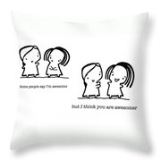 Awesomer Throw Pillow