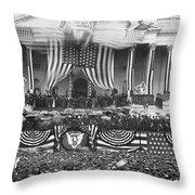 B. Harrison Inauguration Throw Pillow