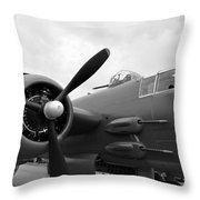 B25 Bomber Throw Pillow