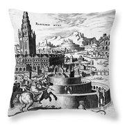 Babylon: Hanging Gardens Throw Pillow