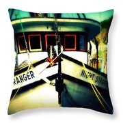 Back In The Harbor Throw Pillow