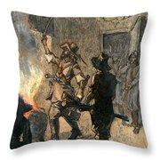 Bacons Rebellion, 1676 Throw Pillow