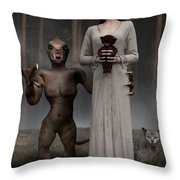 Bad Influence Throw Pillow