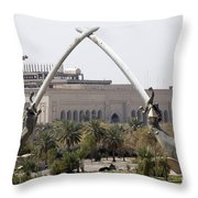 Baghdad, Iraq - Hands Of Victory Throw Pillow