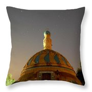 Baghdad Mosque Throw Pillow by Rick Frost