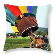 Balloonist - Ready For Takeoff Throw Pillow