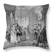 Ballroom, 1760 Throw Pillow