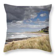 Bamburgh Castle Northumberland, England Throw Pillow by John Short