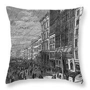 Bank Panic, 1873 Throw Pillow