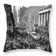 Bank Panic, 1884 Throw Pillow