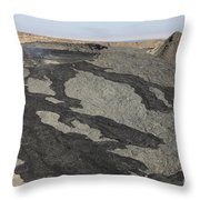 Basaltic Lava Flow From Pit Crater Throw Pillow