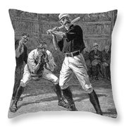 Baseball, 1888 Throw Pillow