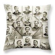 Baseball, 1894 Throw Pillow