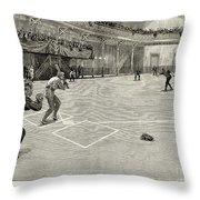 Baseball: Brooklyn, 1890 Throw Pillow