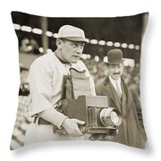 Baseball: Camera, C1911 Throw Pillow