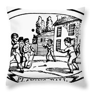 Baseball Game, 1820 Throw Pillow by Granger