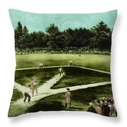 Baseball In 1846 Throw Pillow by Omikron
