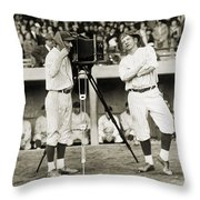 Baseball Players, 1920s Throw Pillow
