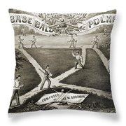 Baseball Polka, 1867 Throw Pillow