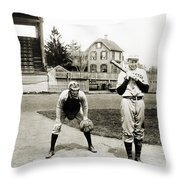 Baseball: Princeton, 1901 Throw Pillow