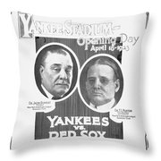 Baseball Program, 1923 Throw Pillow
