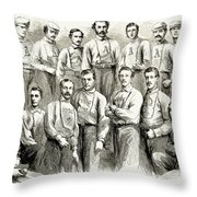 Baseball Teams, 1866 Throw Pillow