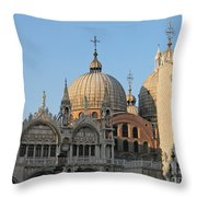 Basilica San Marco Throw Pillow by Bernard Jaubert
