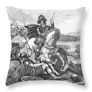 Battle Of Agincourt, 1415 Throw Pillow
