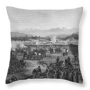Battle Of Molino Del Rey Throw Pillow by Granger