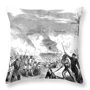 Battle Of Quarisma, 1857 Throw Pillow