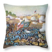 Battle Of Williamsburg Throw Pillow
