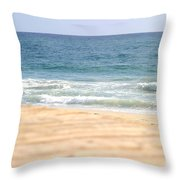 Beach Walk Throw Pillow