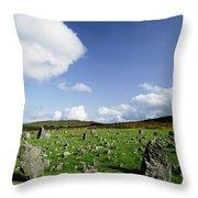 Beaghmore Stone Circles, Co. Tyrone Throw Pillow