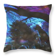Bear In The Bubble Throw Pillow