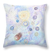 Beings Of Light Throw Pillow by Judy M Watts-Rohanna