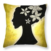Bella Dama Throw Pillow by Brandy Nicole Neal