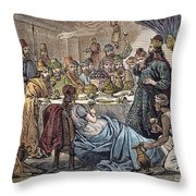Belshazzars Feast Throw Pillow
