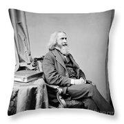 Benjamin Peirce, American Mathematician Throw Pillow